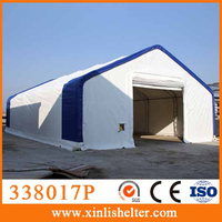 High quality heavy duty snow loading outdoor fabric prefab storage building