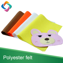 High quality colorful DIY product 1mm polyester nonwoven hard felt