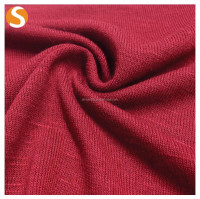 Soft Touch Knitted Rayon Polyester Spandex slub jersey fabric for Sweater