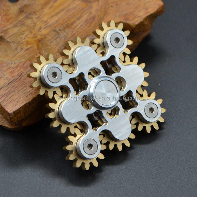 EDC handspinner Gadget 9 GEAR Hand spinner fidget toy Steampunk fidget machine with 9 wheels Top Finger Gyro hand spinner