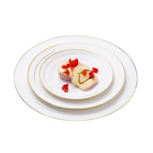 china wholesale gold rim dinner plates with high quality bone china material