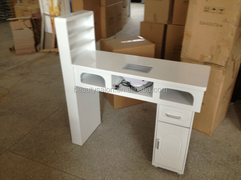Fashion cheap nail manicure table mt026 with dust for Cheap nail desk