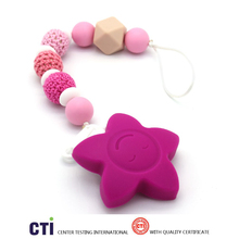 Free sample Crochet Beads Teething Silicone Pacifier Chain Make Dummy Clips Boys Toys Lactation necklace