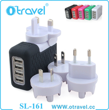4 Port 10W USB Desktop High Speed Charging Station with Intelligent Auto Detect Technology. Perfect for Iphone, Ipad, Samsung