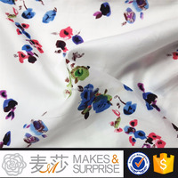 cotton floral print cotton satin garment fabric wholesale,stocklot Vietnamoven plain woven fabric China supplier