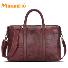 men genuine leather business briefcase bag for men