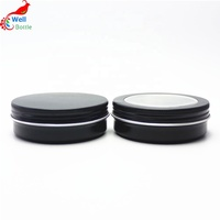 empty cheap christmas candle aluminum jars with buckle cap for food cosmetic AJ-173T