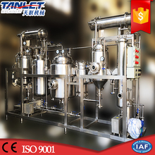Production processing juice evaporator extractor concentrator line