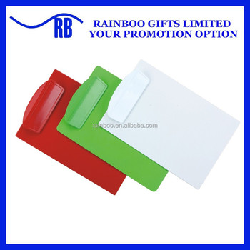 Hot selling FC promorionl cheap logo printed plastic clipboard