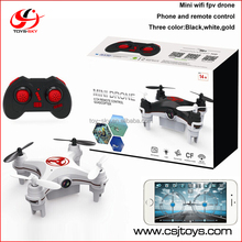 2016 New 2.4G 4CH 6-axis WIFI FPV Mini Camera Quadcopter android app Smart mobile phone controlled toys with two control mode