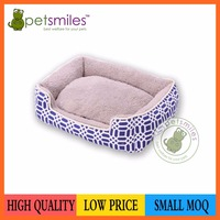 printing fabric pet bed dog bed with removable cushion