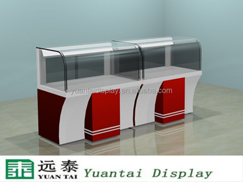 glass vitrine display showcase for mobile phone store interior design