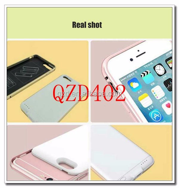QZD402-1 hot selling Back Splint portable wireless power bank case charger Backup battery charger for 4.7inch iphone