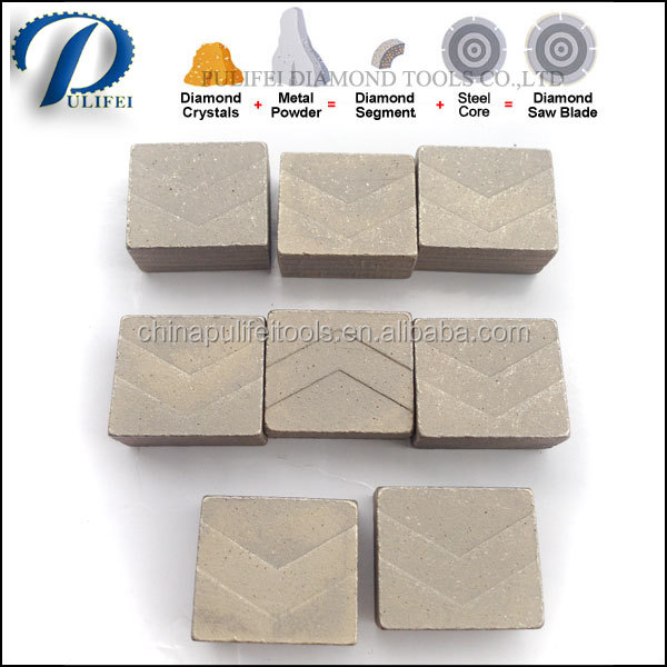 Stone Block Bridge Saw Cutting Machine Tool Multi Blade Cutting Part Multi Diamond Segment for Granite Block Multi Cutting
