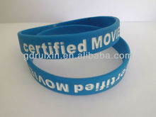 cheapest top quality silicone rubber band with custom debossed logo