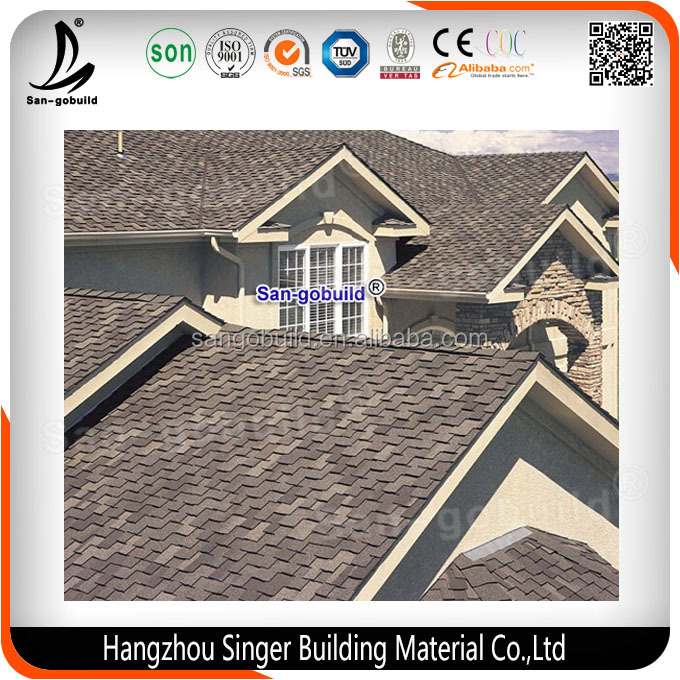 2016 New Building Material 3 Tab Roofing Wall Tiles Asphalt Shingles Different Colors