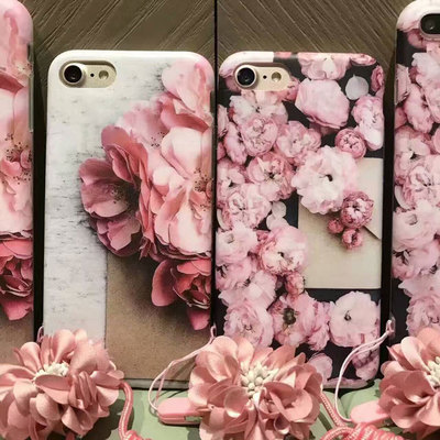Hot luxury Creative Flower Phone Soft Case Cover Back Skin For Apple iPhone 7