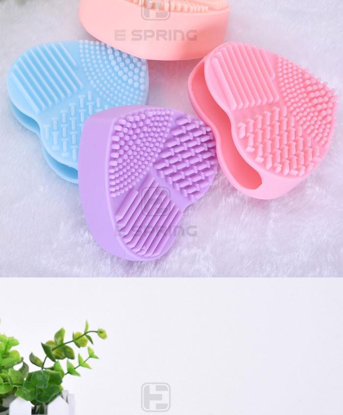 Косметические Силиконовые дизайн в форме сердца щетка для очистки коврик
