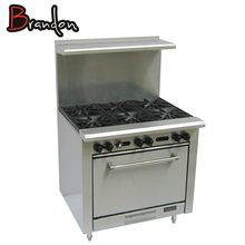 Heavy Duty Cooking Equipment Chinese Wholesale 6 Burner Gas Range Cooker with Large Oven