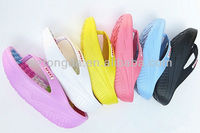 2013 women nude beach slippers/Thick high-heeled platform shoes