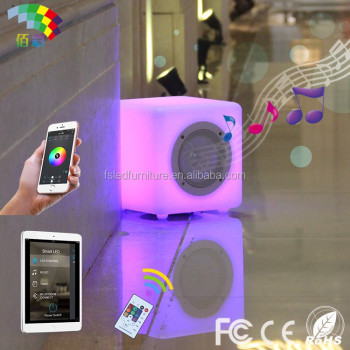 active ipx4 waterproof wireless music mini cube portable bluetooth speaker with led light made in china