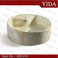 wood color art basin,chaozhou ceramic bathtub basin,above counter mounting
