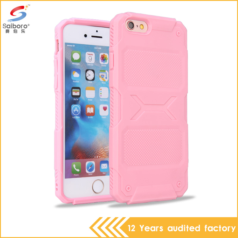 Hybird Case Cover Shockproof PC+TPU 2 in 1 Armor Mobile Phone Case For iPhone 6