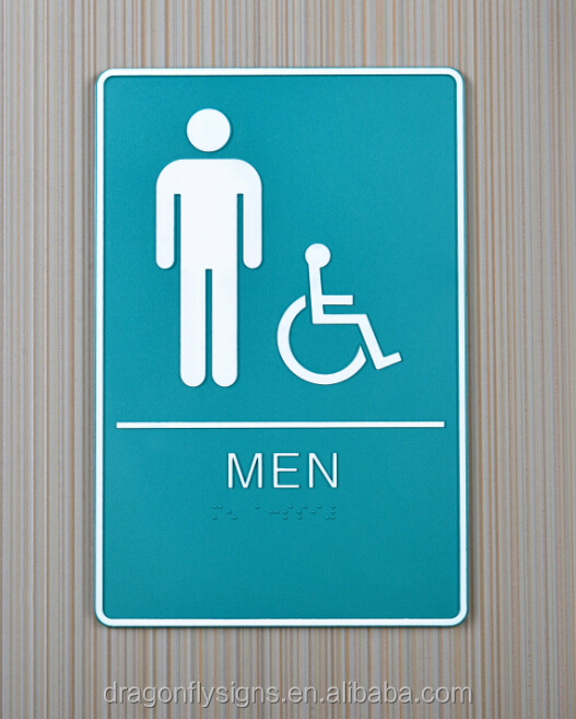 tactile toilet sign