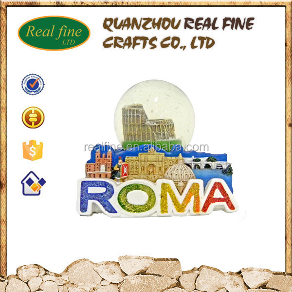 Wholesale customize roma souvenir resin Colosseum snow globe