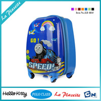 Nice abs Printed 4 wheels hard plastic kids luggage