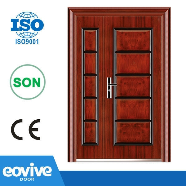 Good Quality Main Entrance Exterior Cheap Steel Security Door Design