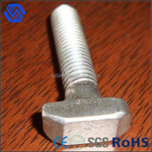 Carbon steel full thread galvanized hammer t head bolt