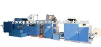 New design wenzhou paper machines with bag maker, shopping paper bag making machine with handles