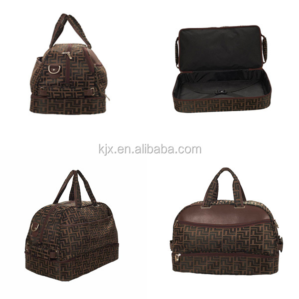 Traditional design Brown Travelling Cowhide Duffle Bag