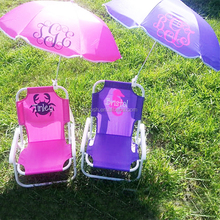 Monogrammed Personalized Kids Folding Beach Umbrella Chair