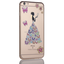colorful glitter wedding lady apple phone sticker