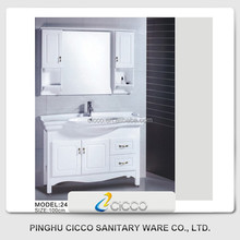 Cheap Double Sink Wall-Mounted Lowes Bathroom Vanity Cabinets