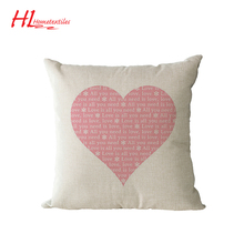 High-quality custom printing love cushion cover,wholesale decorative pillow cover