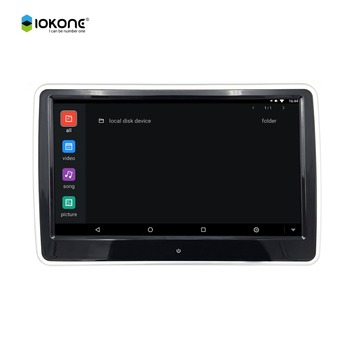 New 10.6inch IPS touch screen android 6.0 car headrest monitor with USB SD card WIFI Bluetooth Mirror Link HDMI