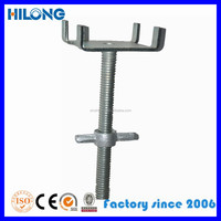 Scaffolding accessories hollow screw jack and solid screw jack