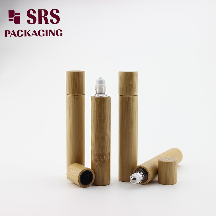 15ml real bamboo roller olive oil glass bottle no leakage good massage perfume bottle factory.jpg