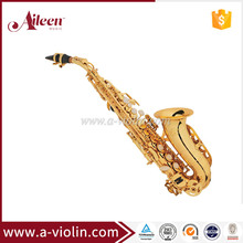Professional Gold Lacquer Chinese Soprano saxophone (SP3041G)