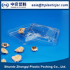 Competitive price 80ml square PS plastic box,80ml square plastic containers for food packaging