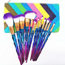 Professional High Quality 12Pcs Colorful Make Up Brushes Brand Cheap Cosmetic Foundation Makeup Tools Set Kit