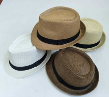 Promotional Fashion Panama Cheap Fedora Hat Paper Straw Hat with Ribbon