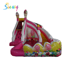 Commercial inflatable water ice cream slide, inflatable slide with small pool, inflatable bouncy slide for sales