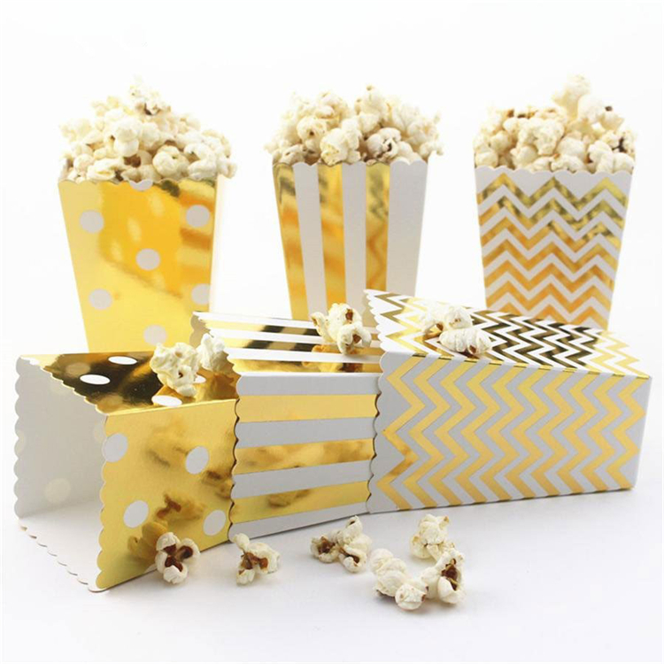 Cheap fold paper box for popcorn