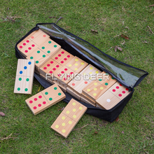 High Quality Wood Domino Brick For Wholesale Domino Blocks Games