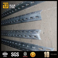 slotted galvanized angle bracket / equal angle iron with holes