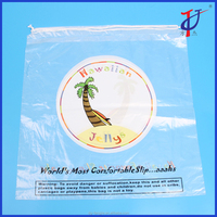 Wholesale custom printed cheap clear ice bag with drawstring closure, reusable plastic drawstring bags cheap